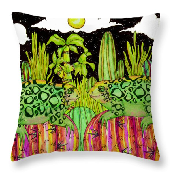 Lizards In Love Throw Pillow by Dede Shamel Davalos