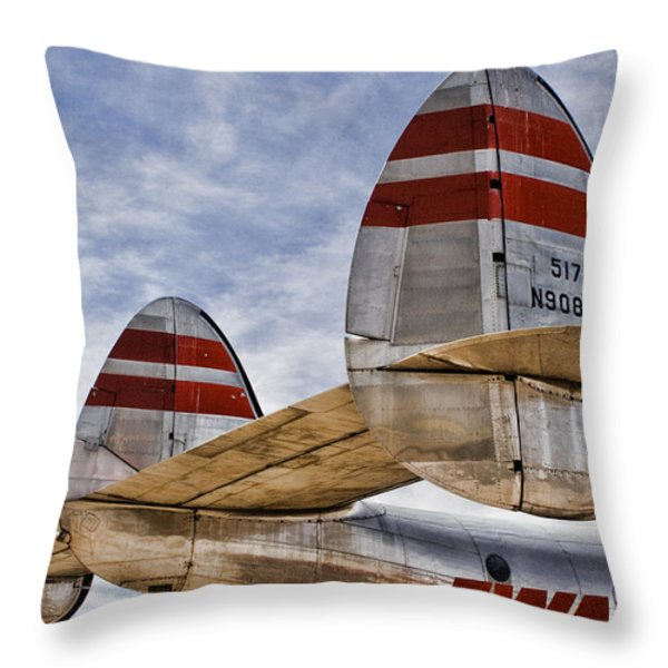 Lockheed Constellation Throw Pillow by Carol Leigh