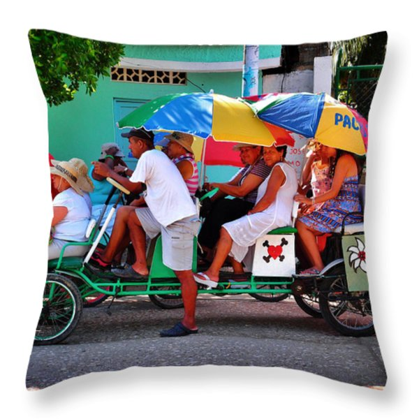 Locomotion Throw Pillow by Skip Hunt