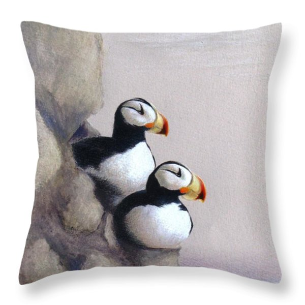 Lofty View Throw Pillow by Phyllis Howard
