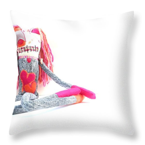 Lollipop The Zombie Raver Throw Pillow by Oddball Art Co by Lizzy Love