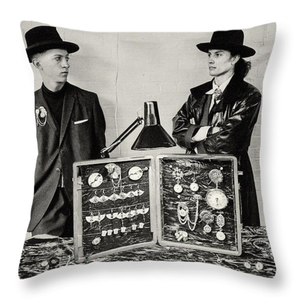 London 85 Two Camden Guys Throw Pillow by Philippe Taka