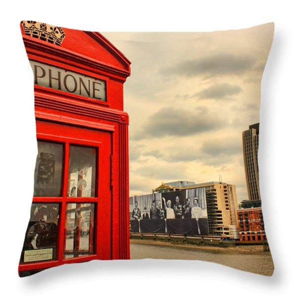 London Calling Throw Pillow by Jasna Buncic