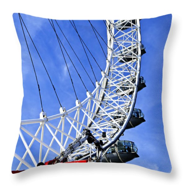 London Eye Throw Pillow by Elena Elisseeva
