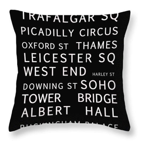 London Throw Pillow by Nomad Art And  Design