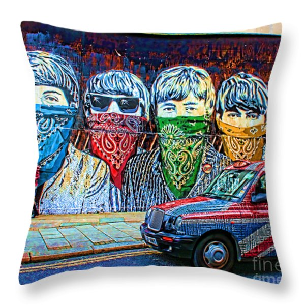 London street Throw Pillow by Jasna Buncic
