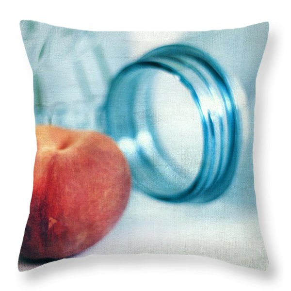 Lone Peach Throw Pillow by Darren Fisher