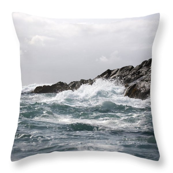 Lonely Cape St. James At Southern Point Throw Pillow by Pete Ryan