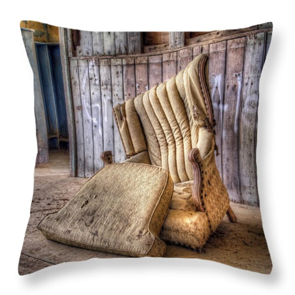 Lonely Chair Throw Pillow by Scott Norris