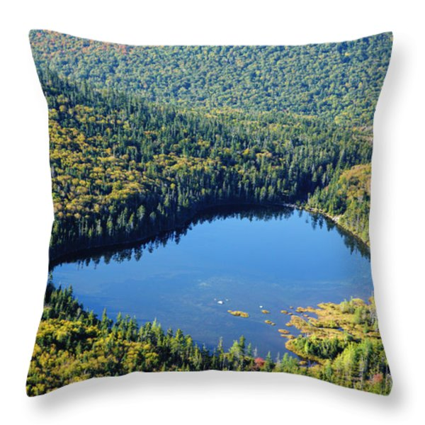 Lonesome Lake - White Mountains New Hampshire Usa Throw Pillow by Erin Paul Donovan