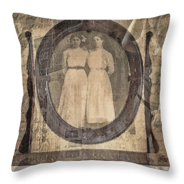 Long Ago Throw Pillow by Betty LaRue