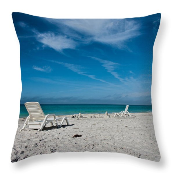 Longboat Key  Throw Pillow by Betsy A  Cutler