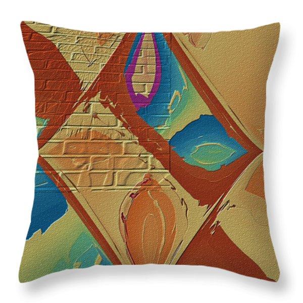 Look Behind The Brick Wall Throw Pillow by Deborah Benoit