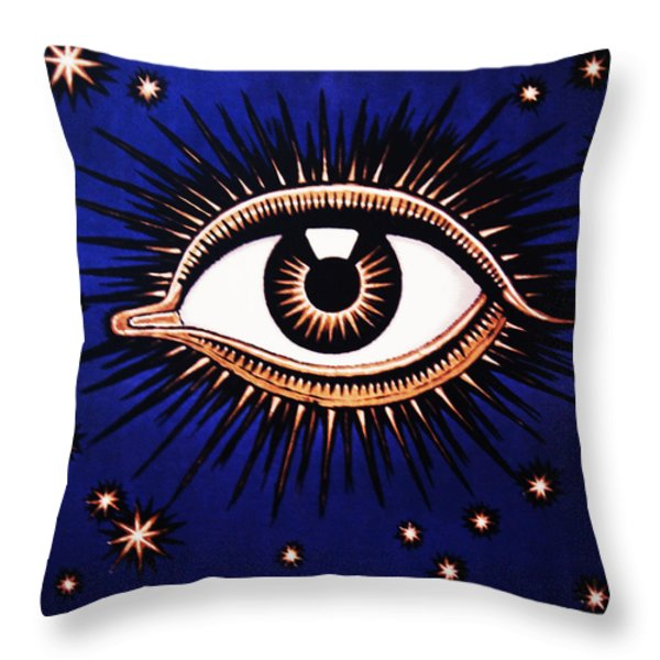 Look Em In The Eye Throw Pillow by Bill Cannon
