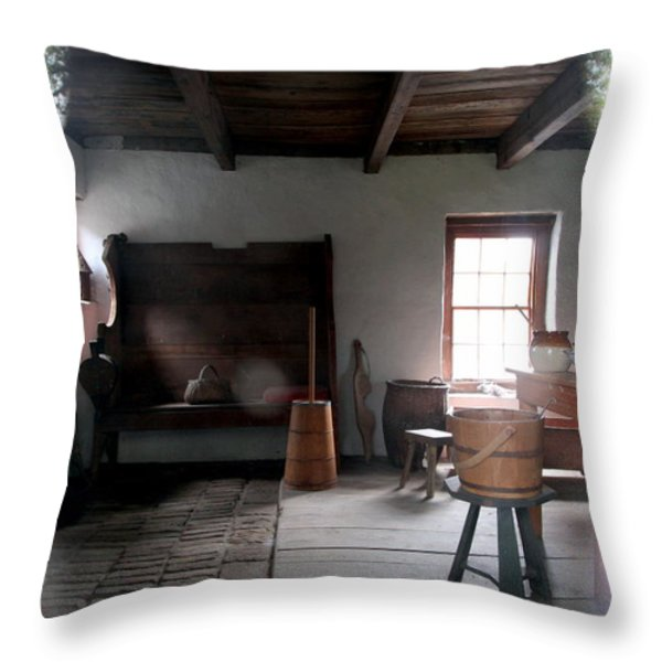 LOOKING BACK Throw Pillow by KAREN WILES