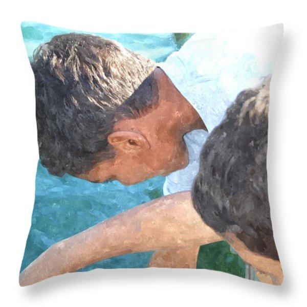 Looking For Treasures Ltwc Throw Pillow by Jim Brage