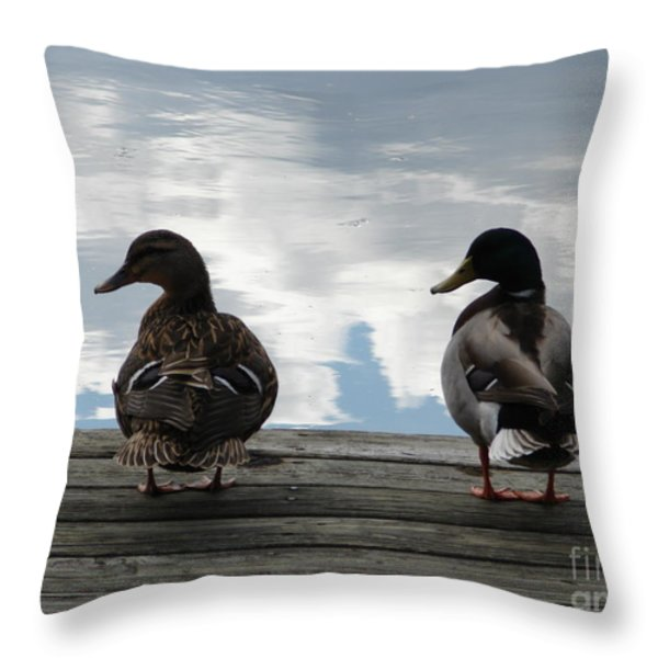 Looking Left Throw Pillow by Artie Wallace