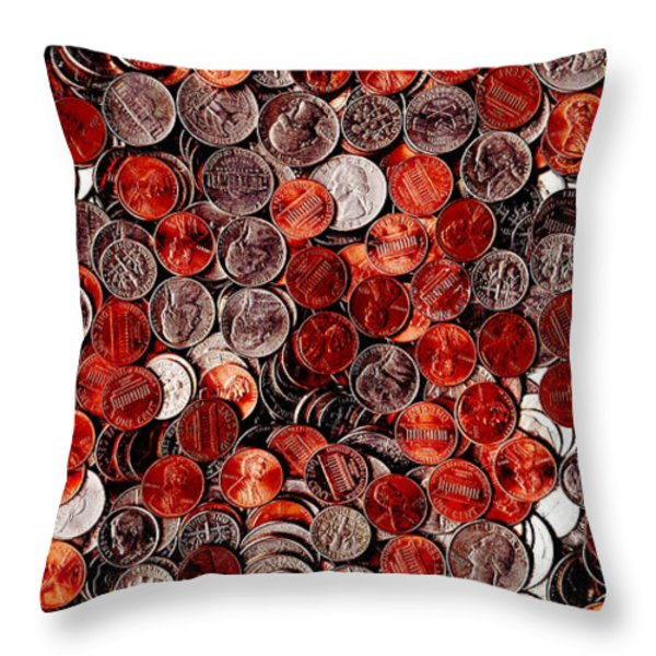 Loose Change . 2 to 1 Proportion Throw Pillow by Wingsdomain Art and Photography