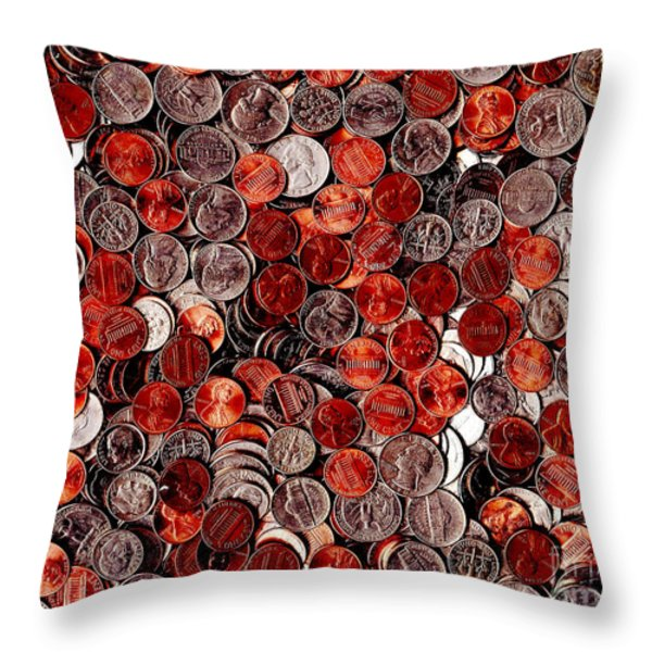 Loose Change . 8 to 10 Proportion Throw Pillow by Wingsdomain Art and Photography