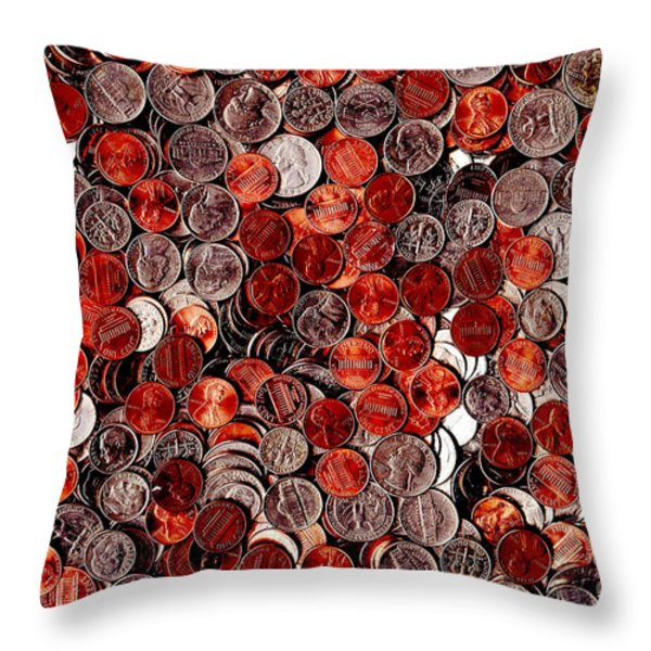 Loose Change . 8 to 12 Proportion Throw Pillow by Wingsdomain Art and Photography