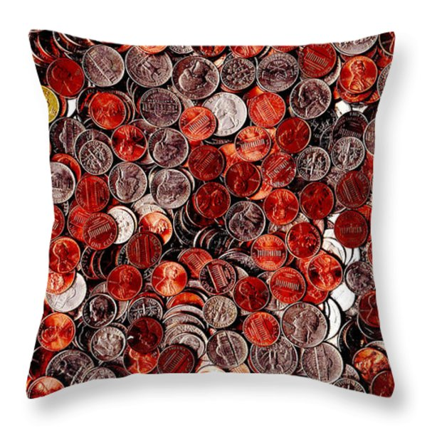 Loose Change . 9 to 16 Proportion Throw Pillow by Wingsdomain Art and Photography