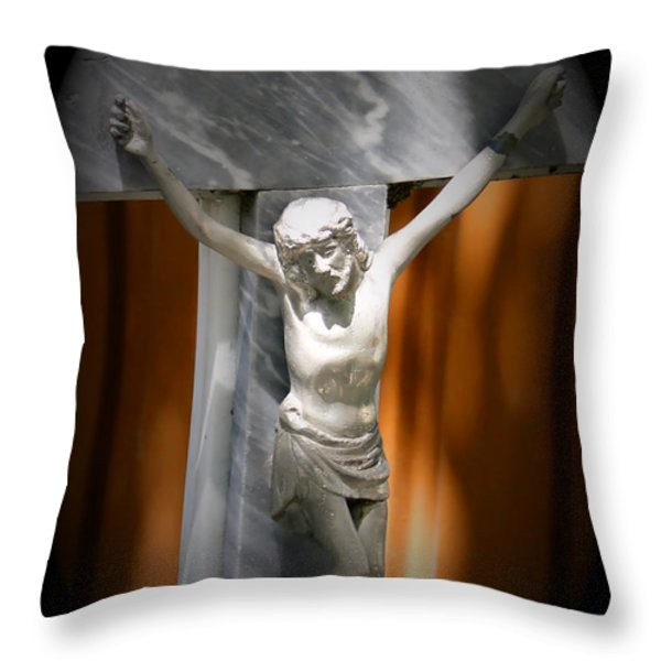 Lord Forgive Them II Throw Pillow by Al Bourassa