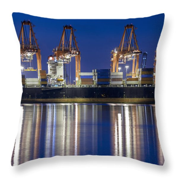 Los Angelos Prot And Reflections Throw Pillow by Mike Raabe