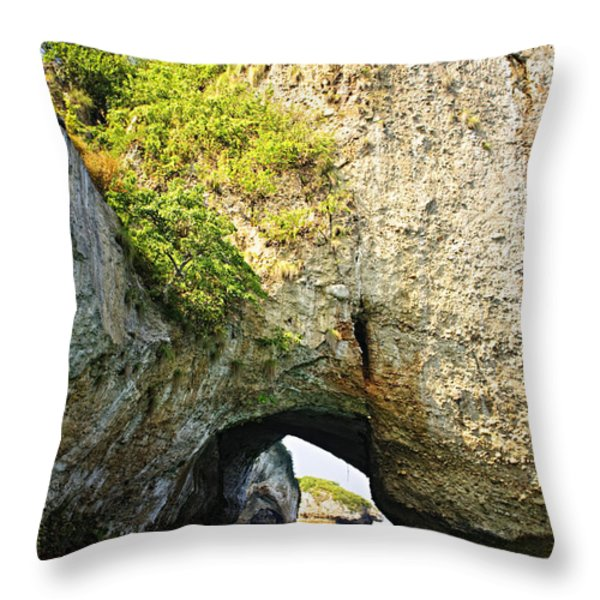 Los Arcos Park in Mexico Throw Pillow by Elena Elisseeva