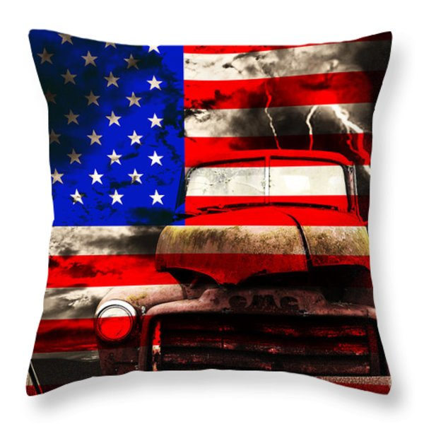 Lost In America Throw Pillow by Wingsdomain Art and Photography