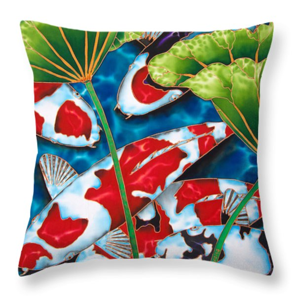 Lotus Garden Throw Pillow by Daniel Jean-Baptiste