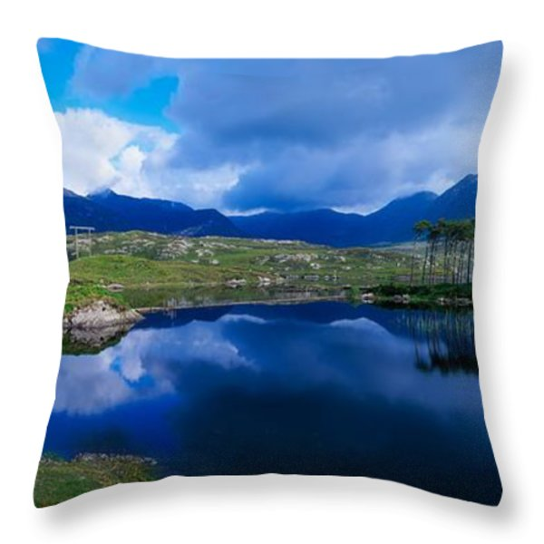 Lough Derryclare, Connemara, Co Galway Throw Pillow by The Irish Image Collection