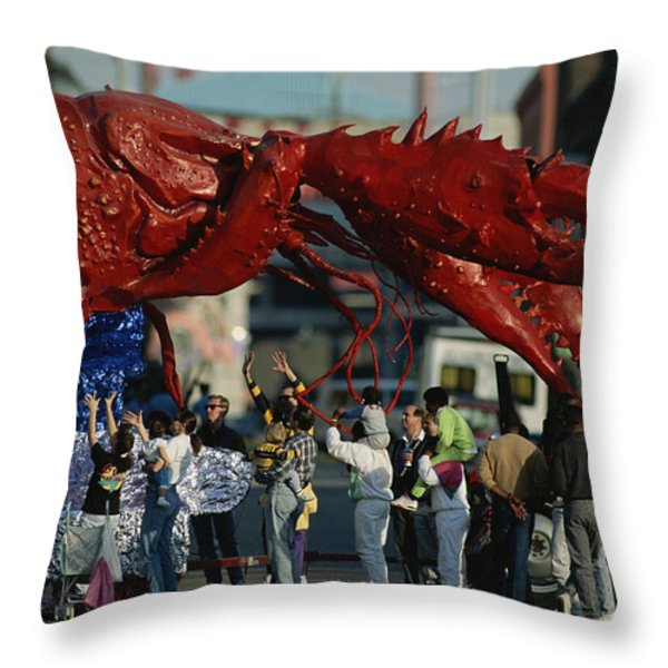 Louisianans Revel Beneath A Giant Throw Pillow by Joel Sartore