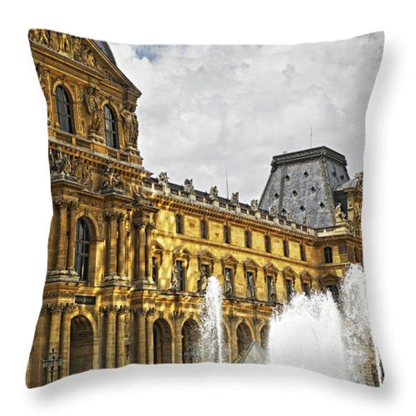 Louvre Throw Pillow by Elena Elisseeva