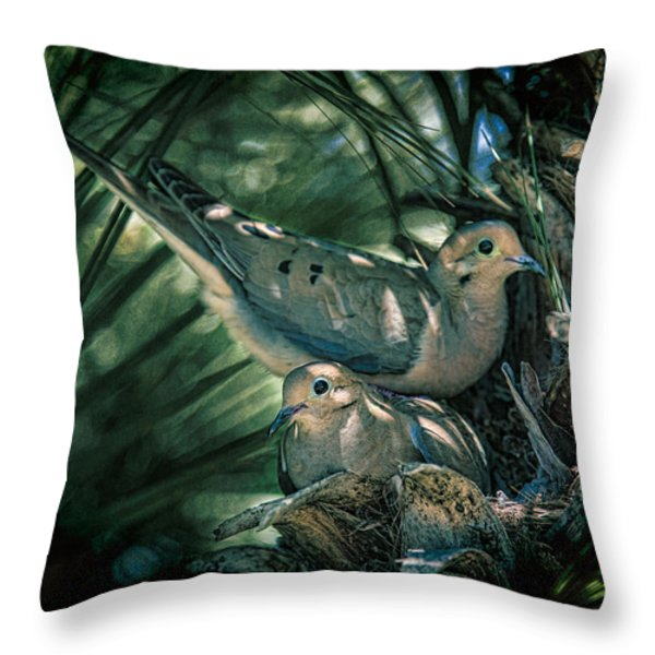Love a Dove Dove Throw Pillow by Chris Lord