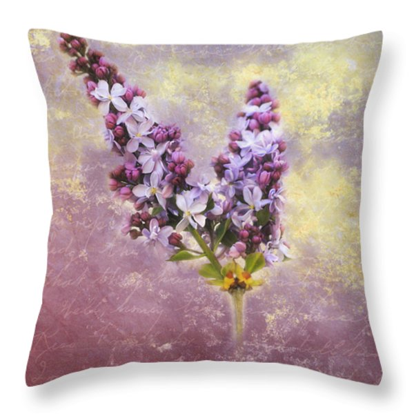 Love Letter Iv Throw Pillow by Jai Johnson