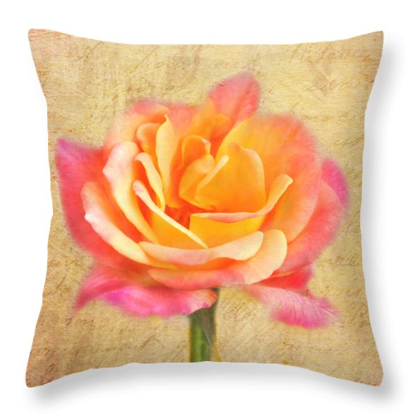 Love Letter Throw Pillow by Jai Johnson