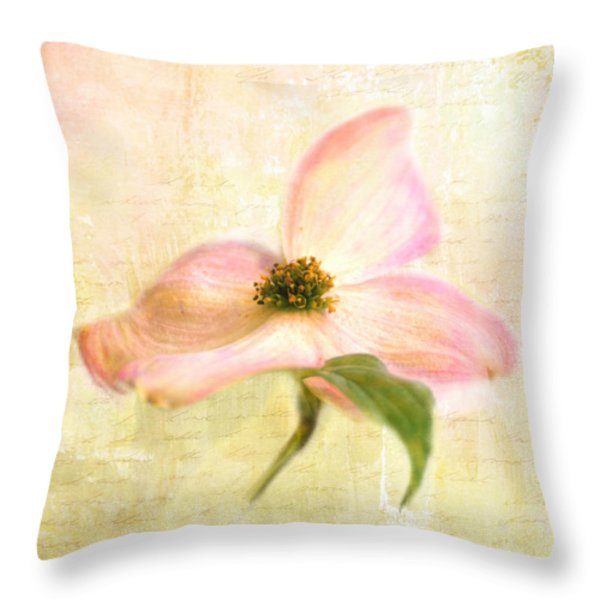 Love Letter VI Throw Pillow by Jai Johnson