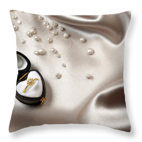Love Ring Throw Pillow by Carlos Caetano