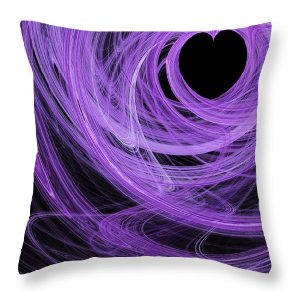 Love Swirls . A120423.689 Throw Pillow by Wingsdomain Art and Photography