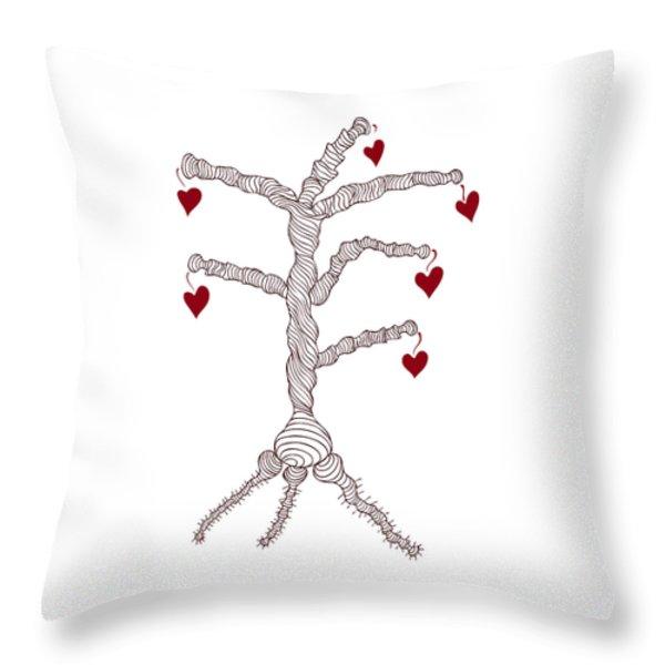 Love tree Throw Pillow by Frank Tschakert