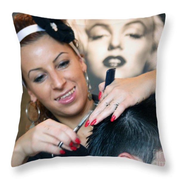Love What You Do Throw Pillow by Eena Bo
