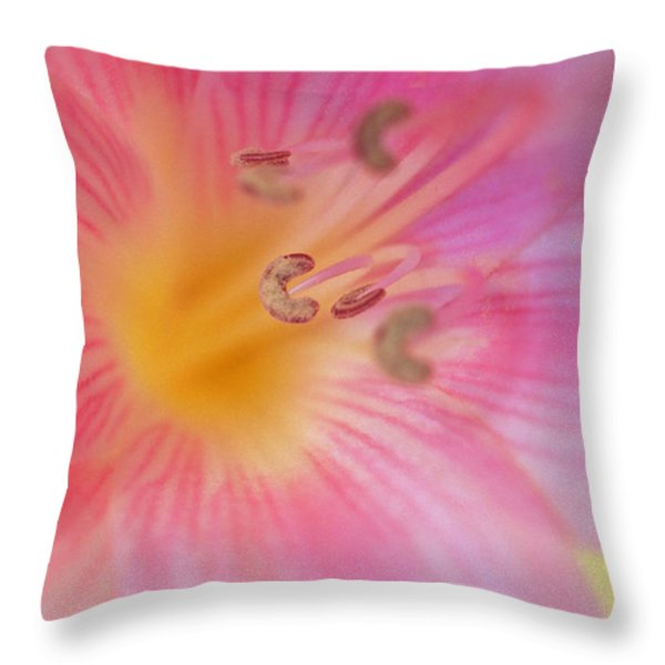 Lovely Lily Throw Pillow by Kathy Yates