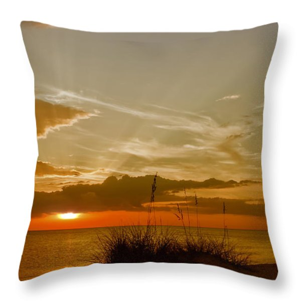 Lovely Sunset Throw Pillow by Melanie Viola