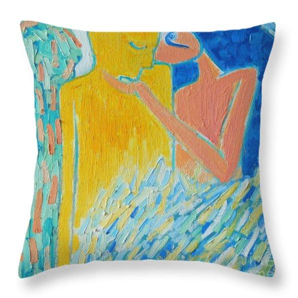 LOVING AN ANGEL Throw Pillow by ANA MARIA EDULESCU
