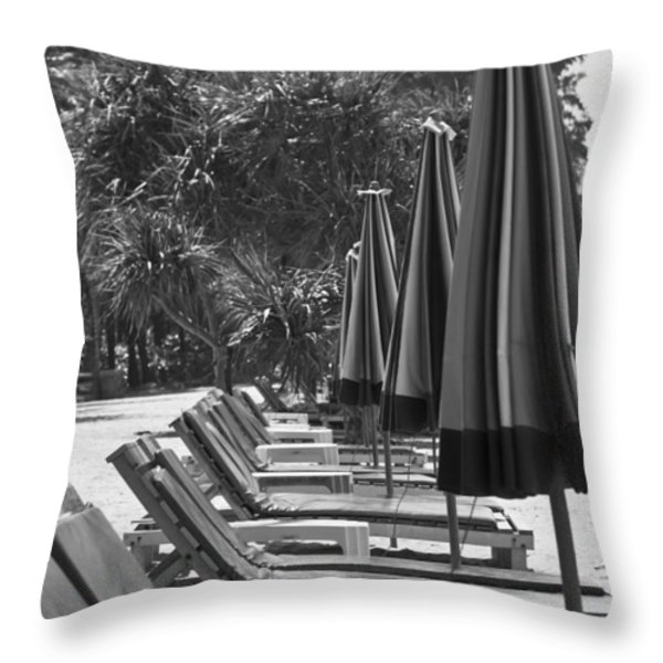 Low Season Throw Pillow by Nomad Art And  Design