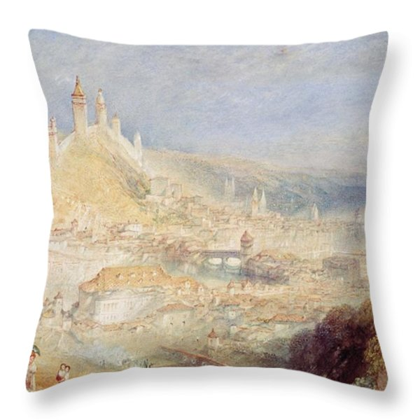 Lucerne From The Walls Throw Pillow by Joseph Mallord William Turner