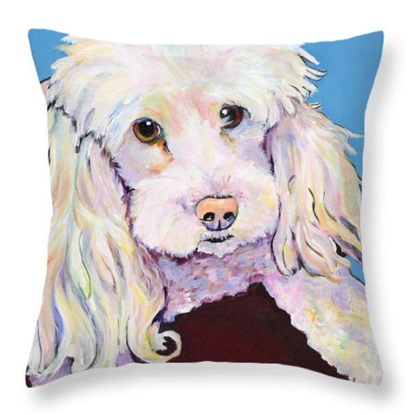 Lucy Throw Pillow by Pat Saunders-White
