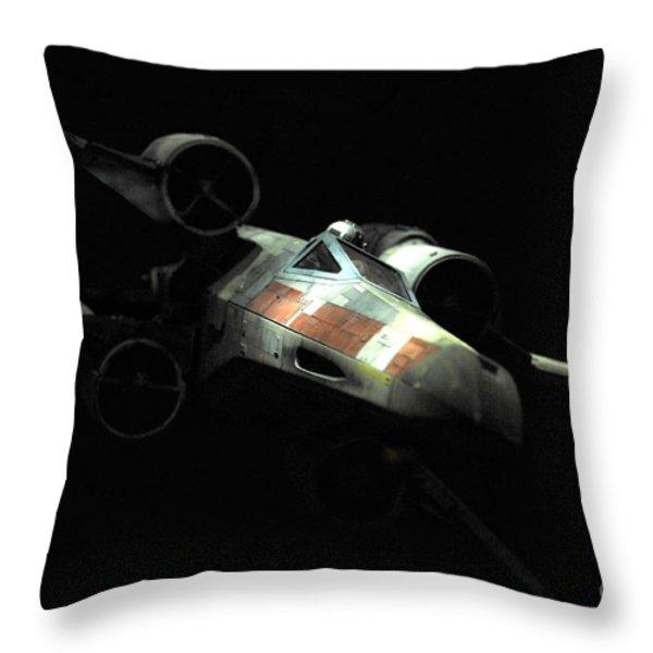Luke's original X-Wing Throw Pillow by Micah May