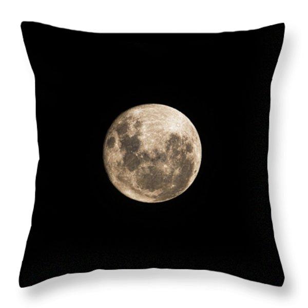 Lunar Perigee Throw Pillow by Andrew Paranavitana