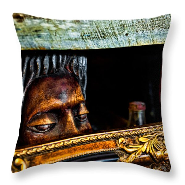 Lurking Throw Pillow by Christopher Holmes